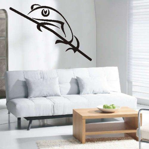 Imagen 2 de Etiqueta de la pared d254 hermosa rana Quack Tribal 40x27 cm