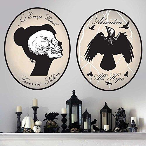 Skeleton Cameo Wall Decal Kit - Halloween Wall Decal By Chromantics