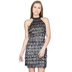 Species Women's A-line Dress (S-624_Black_X-Large)