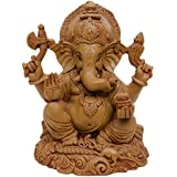 Ganesha Murti Idol Of Polyresin Lord Ganesh Brown Statue For Home And Office - B01KHD72SM