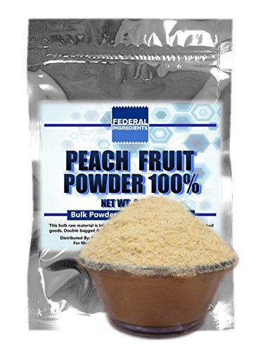 PEACH POWDER - 2.5 Ounces (70 Grams) Lab Quality Sample - Made in the USA by Federal Ingredients - aka dried peaches dried freeze dried peaches dried peach flavoring white peach tea bags (Brisk Fruit Punch compare prices)