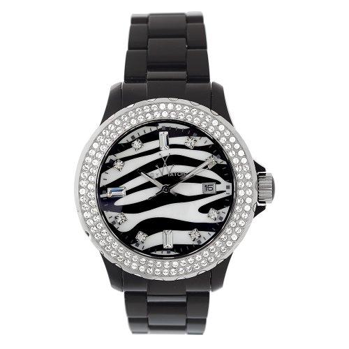 Toy Watch Women'S Tz52001-Bk Zebra Diamond Collection Watch