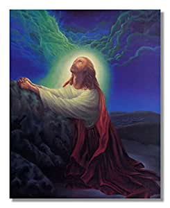 amazoncom jesus christ praying at rock red robe