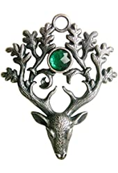 Greenwood's The Stag Lord for Protection and Defense Pendant Talisman Amulet