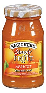 Smucker's  Simply Fruit  Apricot Spreadable Fruit, 10-Ounce (Pack of 6)