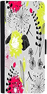 Snoogg Retro Floral Seamless Backgrounddesigner Protective Flip Case Cover Fo...