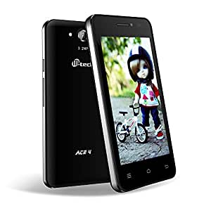 MTECH ACE-4 BLACK 3G WIFI 4GB ROM 512MB RAM DUAL CAMERA 3.2MP &1.3MP 1.2 GHZ DUAL CORE PROCESSOR 4 INCH DISPLAY SMART PHONE WITH FREE FLIP COVER