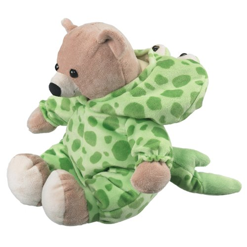 Bear In Spotted Ray Costume, Wildlife Artists Plush Stuffed Animal, Teddy Bear Looks Like Frog front-608593