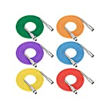 Silverback Roar XLR Patch Cable Color 6 Pack, 6ft. Premium Microphone Cable - Red Blue Yellow Orange Purple Green