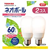東芝 電球形蛍光灯 ネオボール 60WタイプA形 3波長形電球色 2個入り EFA15EL/11-E-2P