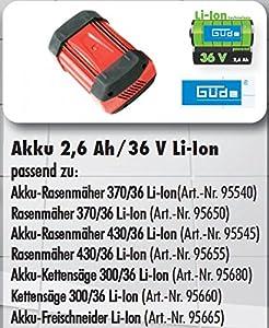 Güde Ersatz-Akku 2,6Ah/36V Li-Ion