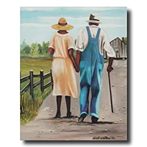 Amazon.com: African American Husband Wife Walking Down Home Decor ...