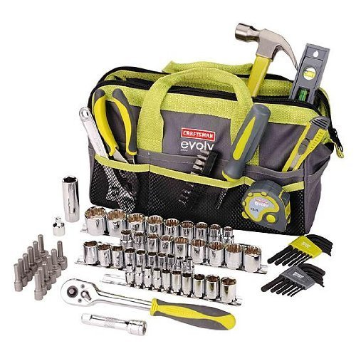 Craftsman Evolv 83 Pc. Homeowner Tool Set W/bag (41283) by Craftsman