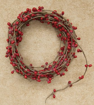 Red Single Ply Pip Berry Garland