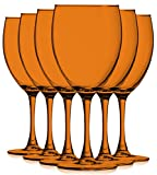 Orange Colored Nuance Wine Glassware - 10 oz. set of 6- Additional Vibrant Colors Available by TableTop King