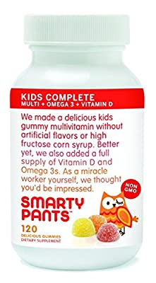 SmartyPants- The Total Vitamin Treat: Pediatrician-approved Gummy Multi-Vitamin with Omega 3 & Vitamin D