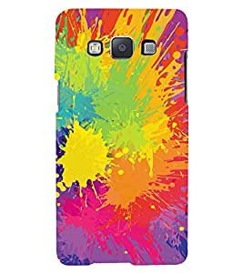 MODERN ART SPASHED PAINTS PATTERN 3D Hard Polycarbonate Designer Back Case Cover for Samsung Galaxy A5 (2015 Edition) :: Samsung Galaxy A5 A500F (2015)