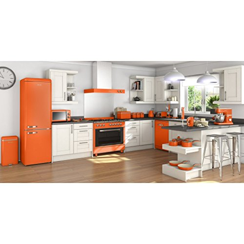SWAN Retro Manual Microwave, 25 Litre, 900 W, Orange