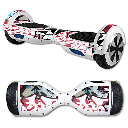 MightySkins Protective Vinyl Skin Decal for Hoverboard Self Balancing Scooter mini hover 2 wheel unicycle wrap cover sticker Graffiti Mash Up