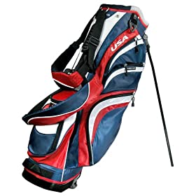 Orlimar USA CR Locator 14-way full divider Stand Bag (Red/White/Blue)