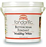 Fondarific Buttercream Wedding White Fondant, 5-Pounds