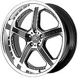 Lorenzo WL021 Series Matte Black Machined Finish Wheel (18X9.5 5X4.5)