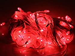 ASCENSION Rice lights Serial bulb decoration light for diwali navratra christmas-Red