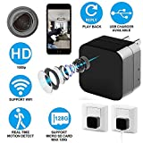 Spy Camera with HD 1080P Video - Motion Detection - WiFi Remote View - usb Wall Charger - Alarm Message -Supports 128GB Micro SD Card - Wireless Hidden Camera - Nanny Cam, Koozam Home