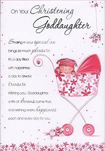 Goddaughter Christening Card On Your Christening