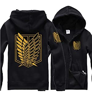 attack on titan shingeki no kyojin survey badge zip up. Black Bedroom Furniture Sets. Home Design Ideas