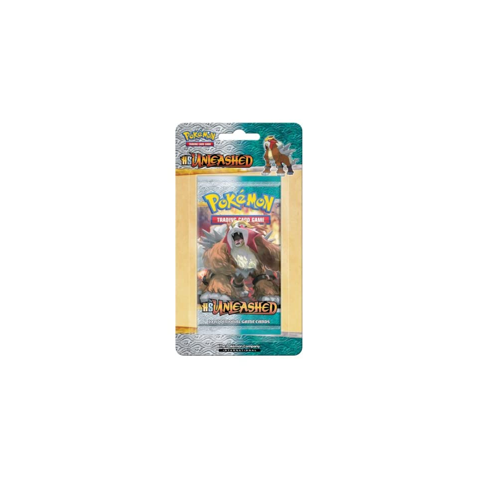 Pokemon Trading Card Game HeartGold SoulSilver Unleashed Single Booster on Blister Card (Box of 24)