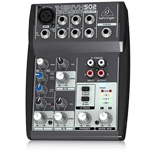 Behringer XENYX502 5-Channel Mixer (Behringer Mixer Dj compare prices)