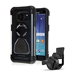 Rokform Samsung Galaxy S7 Sport Series Quad Tab, Twist Lock, Universal Bar Mount kit holder for Bikes, Strollers and more with Galaxy S7 rugged protective case