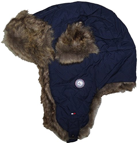 Tommy Hilfiger Men's Trapper Hat with Logo Navy (Tommy Hilfiger Caps For Men compare prices)