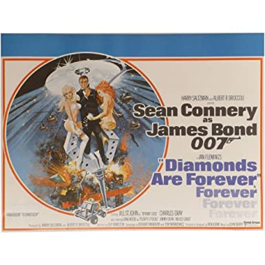 Diamonds Are Forever Original Cinema Poster