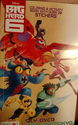 "Disney's Big Hero 6 Mini Coloring and Activity Book (4.5""x 7"") - 1"