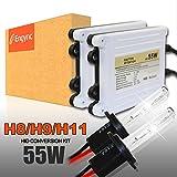 Engync AC 55w H11 グリーン HID交換用キット 極輝型バルブ プレミアム薄型バラスト プロ推奨Hi/Low対応 高速点灯 3年保証