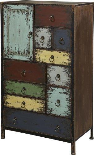 Powell Furniture Parcel 1-Door 10-Drawer Accent Chest, Cinnamon 0