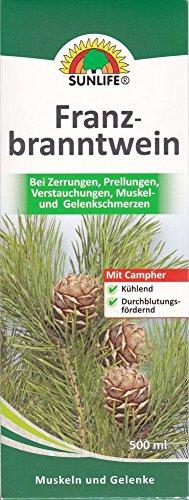 Sunlife Franzbranntwein gegen Zerrungen, Prellungen, Verstauchungen, Muskel + Gelenkschmerzen 500 ml