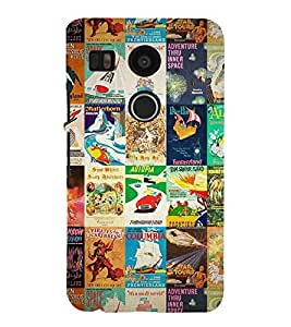 iFasho Animated Pattern colourful hollywood film posters Back Case Cover for Huawei Google Nexus 6P