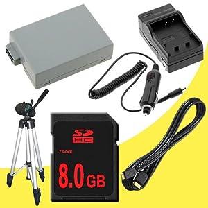 Canon EOS Rebel T2i 18 MP CMOS APS-C Digital SLR Camera (550D / Kiss x4) LP-E8 Lithium Ion Replacement Battery 1500 mAh w/External Rapid Charger + 8GB SDHC Memory Card + Mini HDMI + Tripod DavisMAX LPE8 Accessory Kit