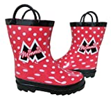 Disney Minnie Mouse Girl's Red Rain Boots (Toddler/Little Kid)