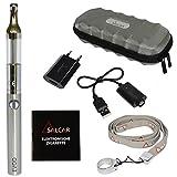 Salcar® Kit de iniciación de Cigarrillo Electrónico EVOD Mini Protank - Vaporizador de 1,8ml, batería recargable de 900mAh, 0,00 mg Nicotina (plata)