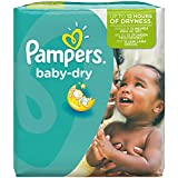 Pampers - Baby Dry - Couches Taille 5+ (13-27 kg) - Pack économique 1 mois de consommation x132 couches
