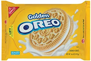 Oreo Golden Oreo Cookie, 16.6-Ounce Packages (Pack of 4)