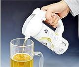 グリーンハウス 超音波でクリーミーな極うま泡  缶ビール用ハンディビアサーバー「コク泡」 2015年モデル 350ml/500ml/250ml 缶対応 ホワイト GH-BEERBS-WH