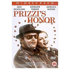 Prizzi's Honor [1985] by Jack Nicholson, Kathleen Turner, Robert Loggia, and John Randolph NEWSPAPER PROMO DVD IN CARD SLEEVE