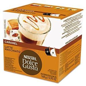 Nescafe Dolce Gusto Coffee Capsules, Caramel Latte Macchiato, 1.93 oz., 16 per Box