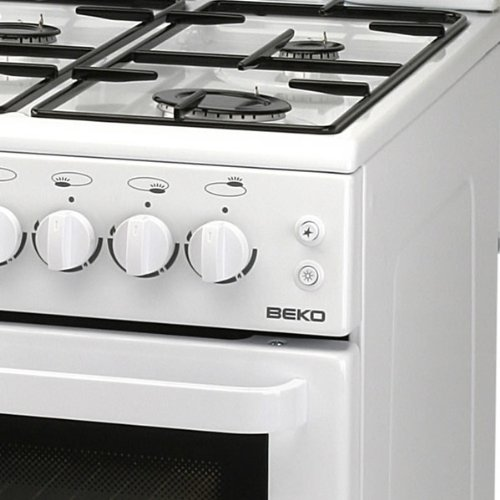 Beko BA52NEW 50cm High Level Gas Cooker with 4 Hotplate Burners in White