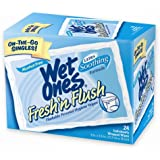 Fresh N' Flush By Wet Ones Personal Hygiene Wipes Singles, 24-Count (Pack of 5)